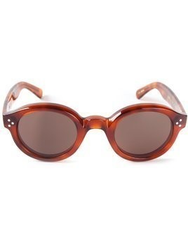 Lesca round frame sunglasses - Brown