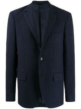 MP Massimo Piombo herringbone single-breasted blazer - Blue