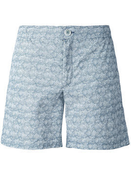Fashion Clinic Timeless lines print swim shorts - Grey