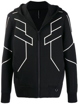 Blackbarrett geometric print hooded jacket