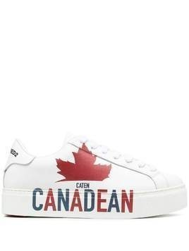 Dsquared2 Canadean slogan print sneakers - White