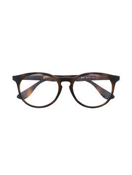 Ray Ban Junior tortoiseshell round glasses - Brown