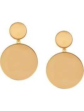 Oscar de la Renta Bold drop earrings - Metallic