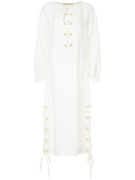 Flow The Label lace-up detail dress - White