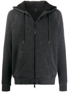 John Varvatos knitted hooded jacket - Grey