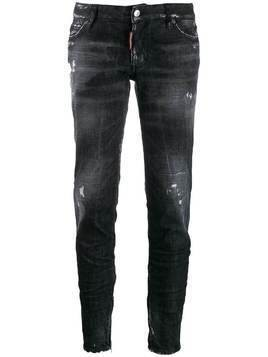 Dsquared2 distressed tapered jeans - Black