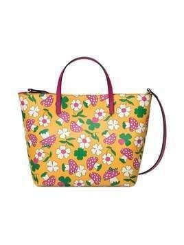 Gucci Kids Children's tote with mushrooms print and strap - Yellow