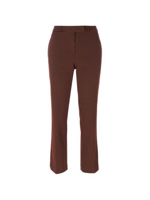 Etro tapered cropped trousers - Black