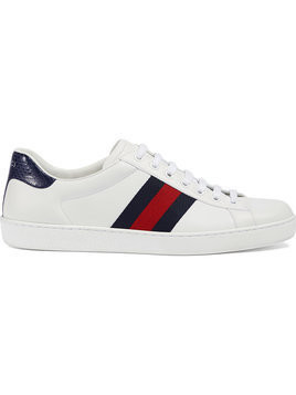 Gucci - Ace leather low-top sneaker - Herren - Leather/rubber - 7.5 - White