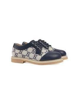 Gucci Kids GG motif leather shoes - Blue