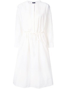 Jil Sander Navy long-sleeve flared dress - White