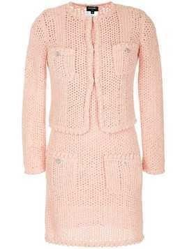 Chanel Pre-Owned knitted one piece set - PINK