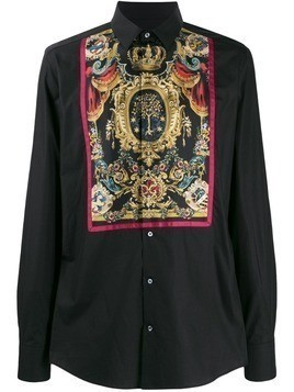 Dolce & Gabbana printed placket shirt - Black
