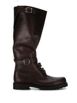Holland & Holland buckled knee length boots - Brown