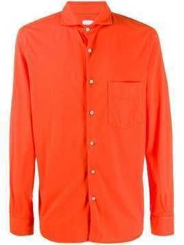 Aspesi spread collar regular-fit shirt - ORANGE