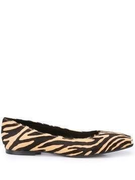 Fabio Rusconi animal print ballet flat - NEUTRALS