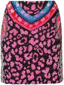 Manish Arora sequin mini skirt - Black