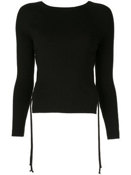 Dion Lee cut out sweater - Black