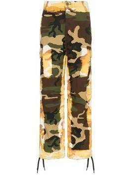 Liam Hodges Acid camouflage-print cargo pants - Green