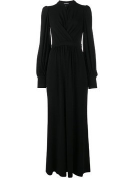 Alexander McQueen long wrap dress - Black