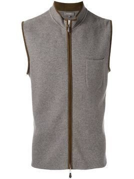 N.Peal zip up gilet - Brown