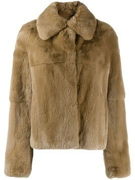Yves Salomon rabbit fur jacket - Neutrals