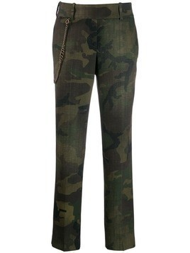 Ermanno Scervino camouflage print trousers - Green