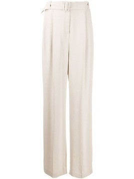 Fabiana Filippi belted high-waisted trousers - NEUTRALS