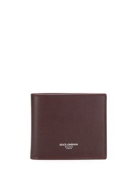 Dolce & Gabbana embossed logo bifold wallet - Red