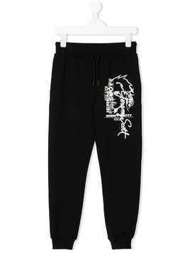 Jeremy Scott Junior graphic print track pants - Black