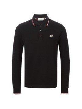 Moncler long sleeve polo shirt - Black