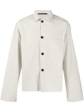Haider Ackermann striped cropped shirt - NEUTRALS