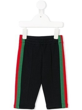 Gucci Kids side stripe track pants - Blue