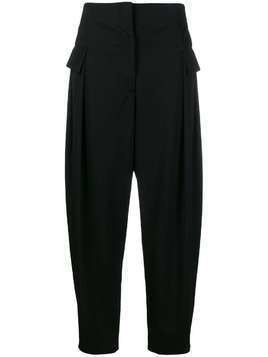 Stella McCartney flap pockets tapered trousers - Black
