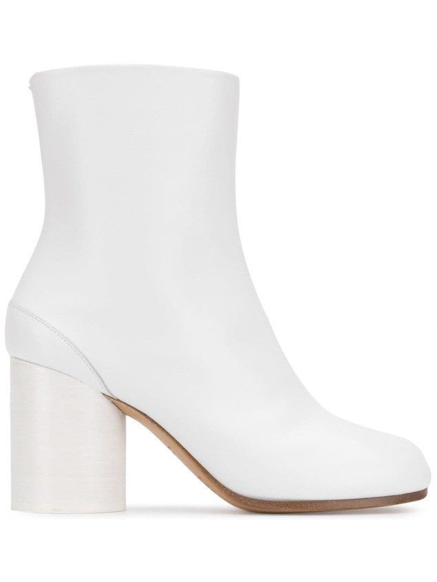 Maison Margiela leather ankle boots - White