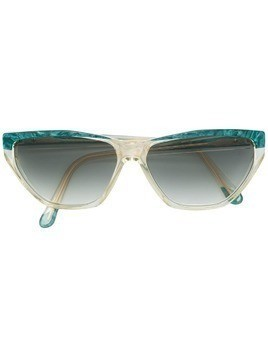Yves Saint Laurent Pre-Owned 1980's geometric sunglasses - Green
