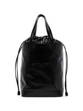 Saint Laurent Teddy logo tote bag - Black