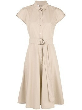 Akris Punto shortsleeved shirt dress - Brown