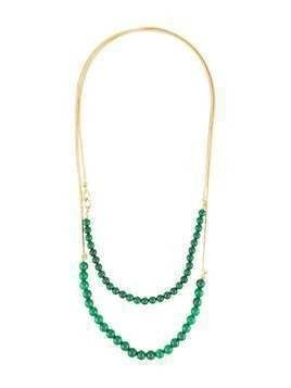 Crystalline Jade Beads necklace - Green