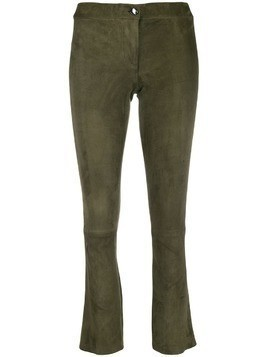 Arma cropped leather trousers - Green