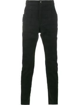 Haider Ackermann Black Panelled trousers
