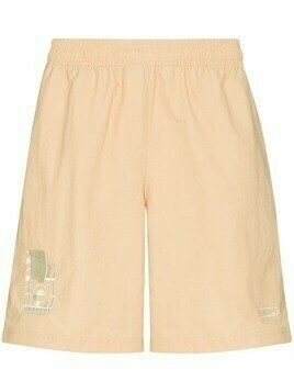adidas logo-embroidered track shorts - Neutrals