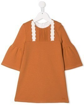 Chloé Kids bell sleeve dress - Neutrals