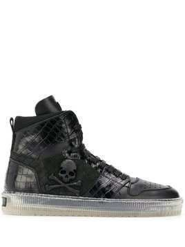 Philipp Plein Skull high top sneakers - Black
