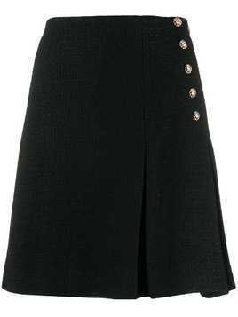Edward Achour Paris side button short skirt - Black