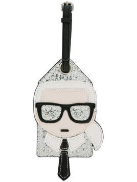 Karl Lagerfeld Ikonik Karl bag tag - Black