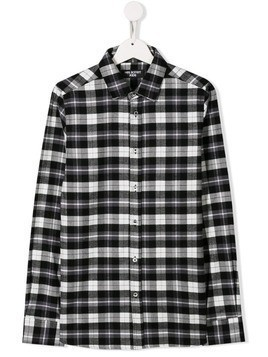 Neil Barrett Kids TEEN plaid shirt - Black
