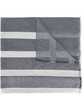 Fabiana Filippi striped sheer scarf - Blue