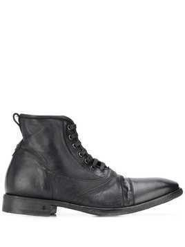John Varvatos worn-look ankle boots - Black