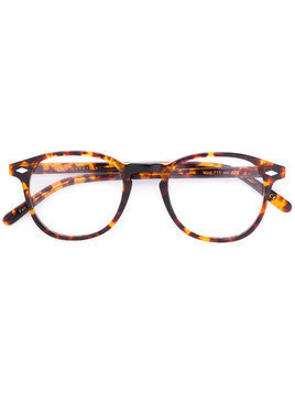Lesca round-frame glasses - Brown